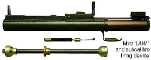 M72 with its subcalibre training insert